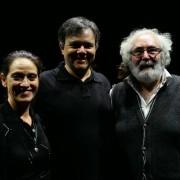 """Com Celia Bermejo e Pedro G. de las Heras, atores espanhóis de """"O fim de todos os milagres"""""""